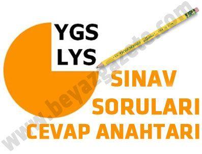 YGS Soru ve Cevapları 2011