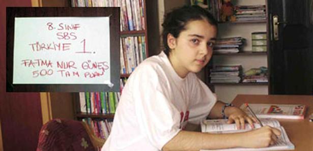Fatma Nur'u başarıya götüren not